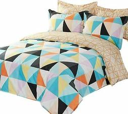 5 Piece Printed Ultra Soft Duvet Cover Comforter Quilt Bed C