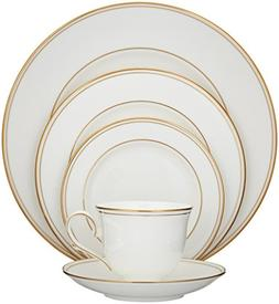 Federal 5 Piece Place Setting, 5 and up, China, Round, Gold