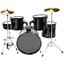 LAGRIMA 5 Piece Full Size Drum Set for Adult Beginner with S