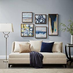 Madison Park Blue Bliss Galary 5-Piece Set, Canvas in Decor