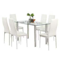 Durable Different Style 5 Piece Dining Table Settables Glass