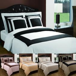 LUXURY Hotel 5 Piece Duvet Cover with Pillow Shams 100% Cott
