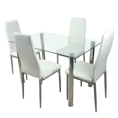 5 DINING WHITE TABLE AND DINNING