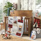 Lambs & Ivy Little Campers 5-Piece Crib Bedding Set  -  Blue