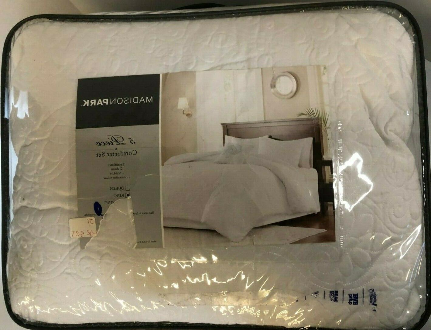 new 5 piece comforter set king size